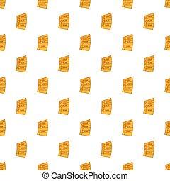 Idea, plan, work paper pattern, cartoon style