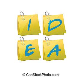 idea post illustration design
