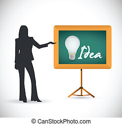 idea presentation concept illustration design