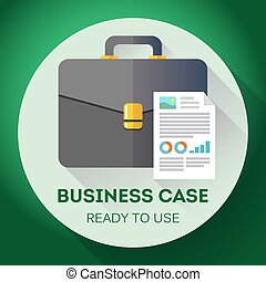 Idea - Ready to use Business case icon. Flat design style