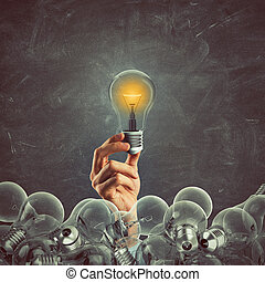 idea., rendre, grand, business, 3d
