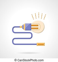 Idea resources abstract flat color vector icon