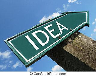 IDEA road sign
