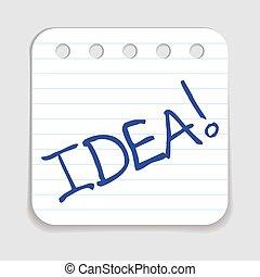 idea, scarabocchiare, icon.