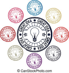 idea, set of stamps