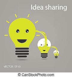 idea sharing ,ideas concepts , creative sign, vector illustration