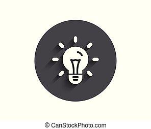 Idea simple icon. Light bulb sign.