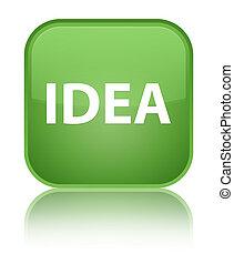 Idea special soft green square button