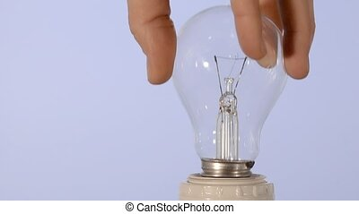 idea! - Lightbulb close up. Conceptual footage. Intuition,...