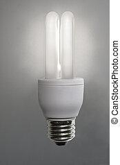 Idea symbol - Bright idea symbol with energy saving bulb