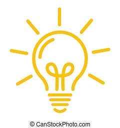 Idea symbol. Yellow bulb icon vector