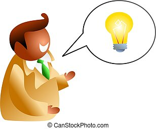 idea talk - icon people version of an ethnic man talking...