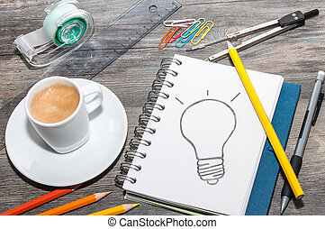 Idea tomando cafe