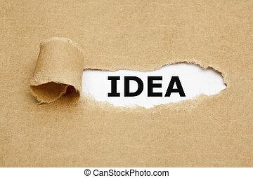 Idea Torn Paper