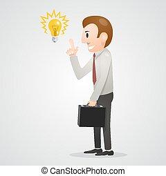 idea, ufficio, uomo