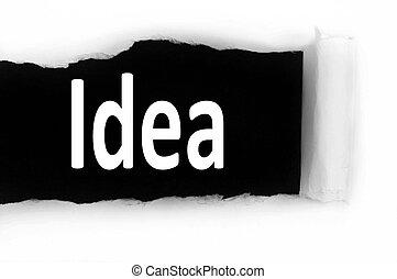 Idea under paper