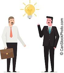 idea., uomini affari