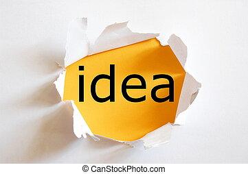 idea, y, creatividad