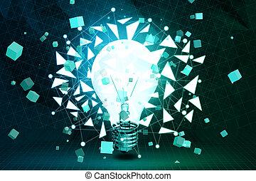 idea, y, innovación, concepto