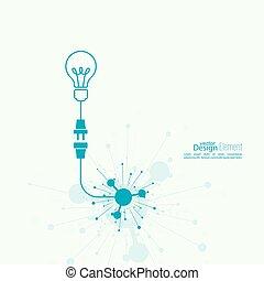 idea., zwiebel, licht