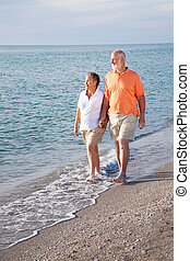 Ideal Retirement - Retired senior couple takes a romantic...
