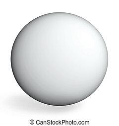 ideal sphere - White sphere on white