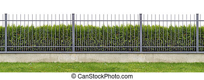Ideal village fence panorama - Metal village mass production...