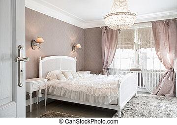 ideale, donna, camera letto