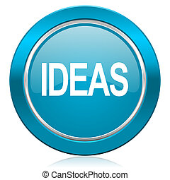 ideas blue icon
