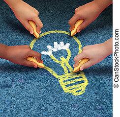 ideas, comunidad