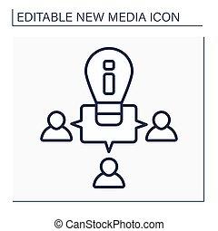 Ideas exchange line icon