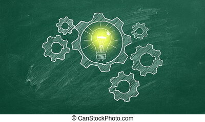 Idea's generator - Human brain build out of cogs and gears ...