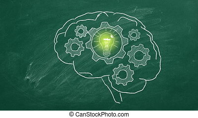 Idea's generator - Rotating gears inside the human brain. ...