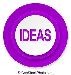 ideas icon, violet button