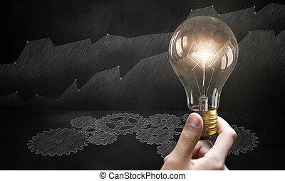 ideas., imagem, conceito, produzir