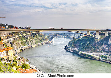 ideas., infante, d, día, ponte, henrique, porto, cityscape, ...