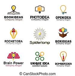 Ideas lamp Symbol Design