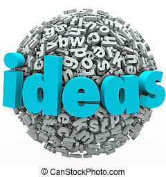 Ideas Letter Ball Sphere Creativity Imagination