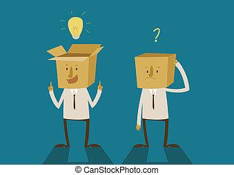 ideas of the box thinking Illustrator