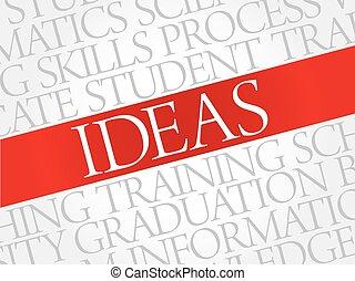 ideas, palabra, nube