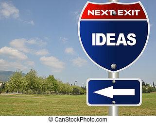 Ideas road sign