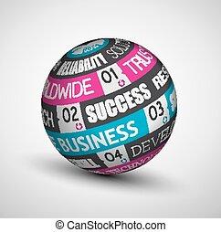 ideas., sphère, infographic, technologie, business