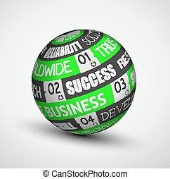 ideas., sphère, résumé, technologie, business