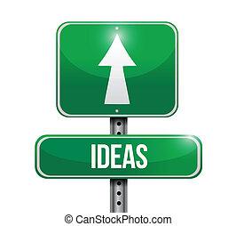 ideas street sign illustration design