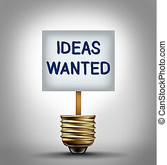 ideeën, gevraagd