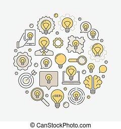 idee, abbildung, kreativ