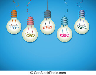 idee, achtergrond, bol, licht