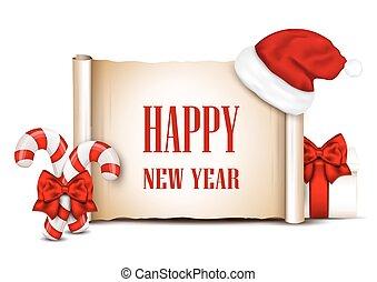 idee, banners., jaar, nieuw, jouw, design.
