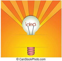 idee, bol, licht
