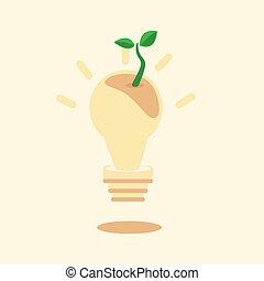 idee, gaan, groene